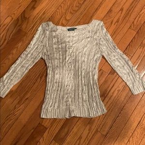 Lauren by Ralph Lauren Silvery Sweater